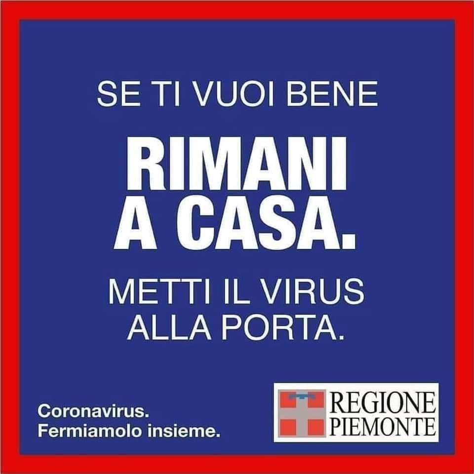 Metti il coronavirus alla porta. Regione Piemonte.